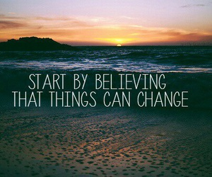 quote, change, and beach image