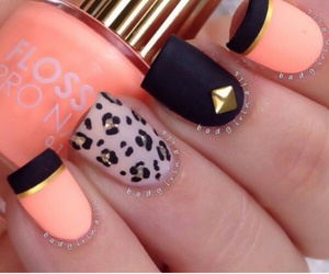 nails, black, and orange image