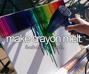 crayon, art, and melt image