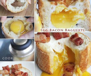 bacon, diy, and egg image