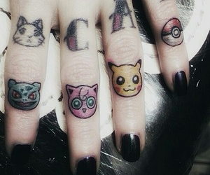 tattoo, pokemon, and cat image