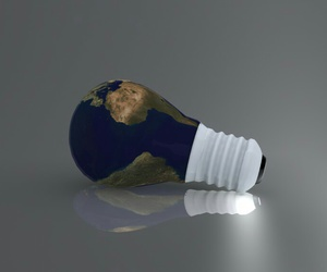 earth and light bulb image
