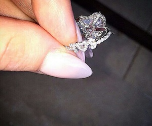 ring, diamond, and Lady gaga image