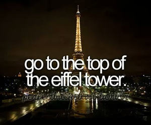 eiffel tower, paris, and before i die image
