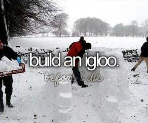 igloo, snow, and winter image