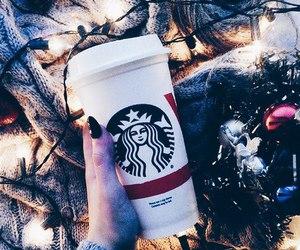 coffee, starbucks, and christmas image
