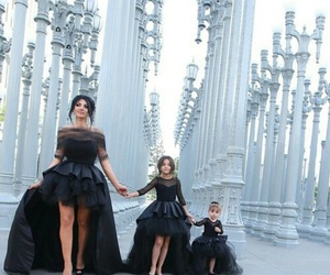 dress, black, and family image
