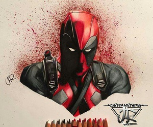 art, deadpool, and draw image