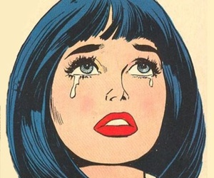 pop art, cry, and sad image
