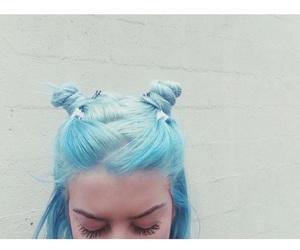 hair, blue, and blue hair image