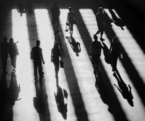 black and whit, light and shadow, and people image