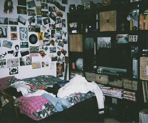 bed, indie, and bedroom image