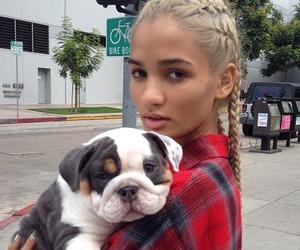dog, girl, and pia mia image