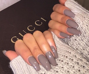 nails, gucci, and grey image