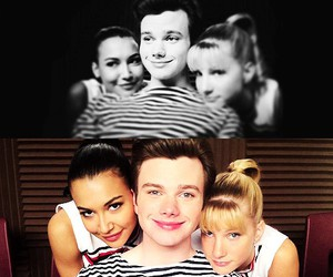 glee, chris colfer, and naya rivera image