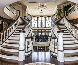 luxury, staircase, and dream home image