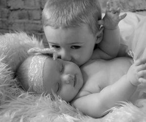 amor, blanco y negro, and ternura image