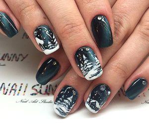 cool, nail art, and snow image