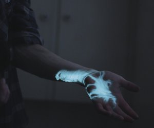 blue, hand, and grunge image
