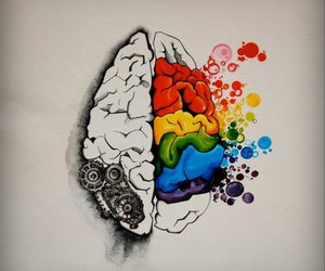 brain, art, and color image