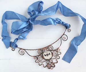 blue, cool, and jewelry image