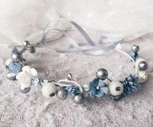 blue, jewelry, and winter image