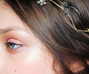 eyes, hair, and jewelry image