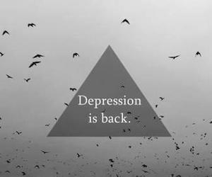 depression, sad, and back image