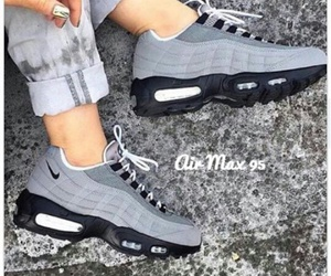 gris, nike, and sneakers image