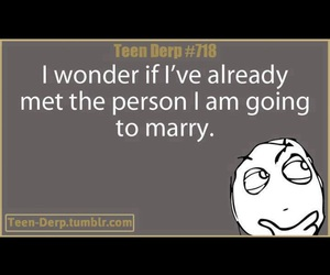 ?, marriage, and the one image
