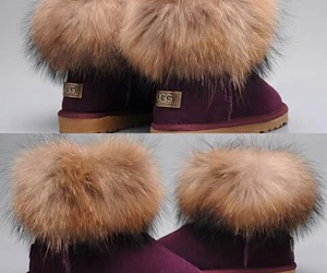 boots, fur, and uggs image