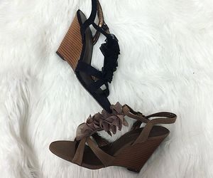 fall fashion, pretty heels, and cute wedges image