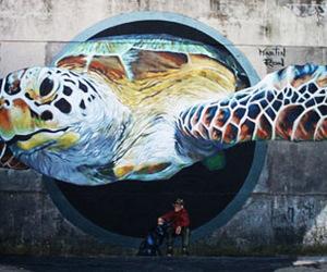 art, street art, and turtle image