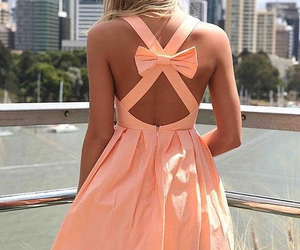 dress, fashion, and bow image