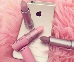 fashion, pink, and lipstick image