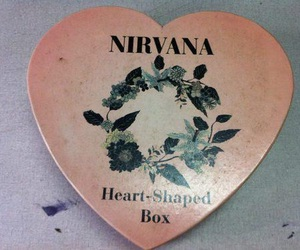 nirvana, heart, and grunge image