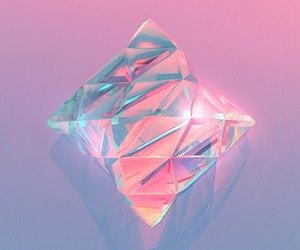 diamond, pastel, and pink image