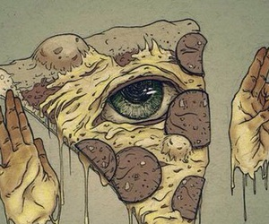 cool, illuminati, and pizza image
