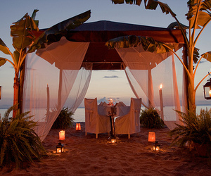 beach, romantic, and luxury image
