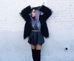 aesthetic, kawaii, and purple hair image