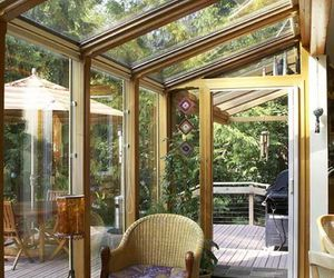 indoor garden, house design, and sunroom image