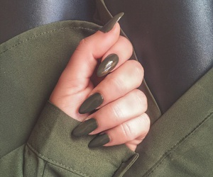 nails, green, and khaki image