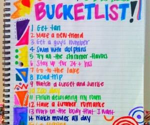 summer, list, and bucket list image