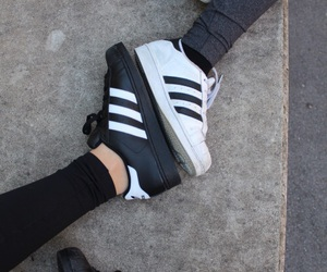 'shoes', 'adidas', and 'black' image