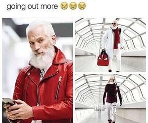 funny, santa, and christmas image
