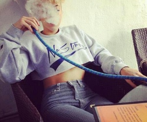 smoke, hookah, and shisha image