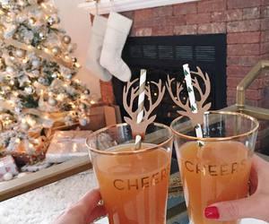 cheers, christmas, and drinks image