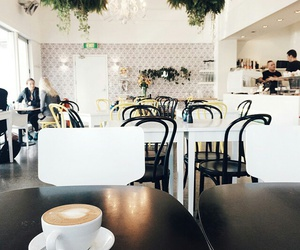 bistro, relaxed, and white image