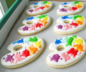 food, Cookies, and paint image