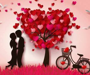 love, couples, and hearts image